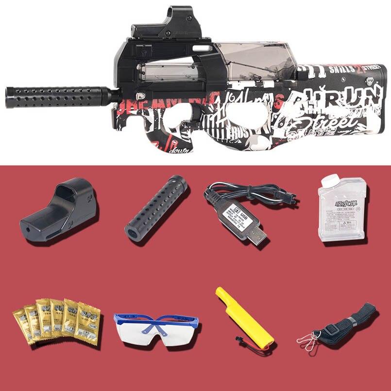 Eléctrico P90 Graffiti edición pistola de juguete Live CS Assault Snipe arma de simulación de agua suave al aire libre pistola de bala juguetes para niños los niños - 6