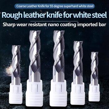 цена на 1PCS Milling Tools Aluminum Roughing End Mill HRC55 3 Flutes 4mm 6mm 8mm 10mm 12mm Carbide Milling Cutter End Mill Aluminum Tool