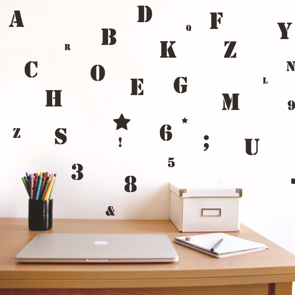 Online Shop Removabe 3d Alphabet Wall Stickers For Kids Rooms Adhesive DIY  Nursery Wall Decals Wall Pictures For Childrenu0027s Room | Aliexpress Mobile Part 85