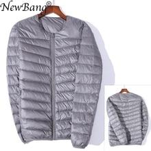 NewBang Brand Mens Down Jacket Ultra Light Down Jacket Men Slim Windproof Portable O Neck Lightweight Coat Warm Liner