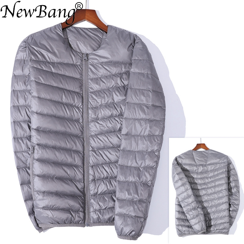 NewBang Brand Men's   Down   Jacket Ultra Light   Down   Jacket Men Slim Windproof Portable O-Neck Lightweight   Coat   Warm Liner