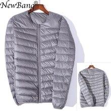 NewBang Marke männer die Jacke Unten Ultra Licht Unten Jacke Männer Schlank Winddicht Tragbare Oansatz Leichte Coat Warme Liner