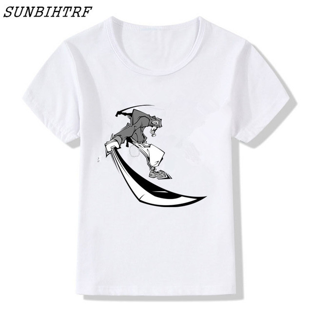Comics Japanese Samurai Style Fitness Camiseta Masculino Summer Children Clothing Cotton Top Tees Fashion Kids T