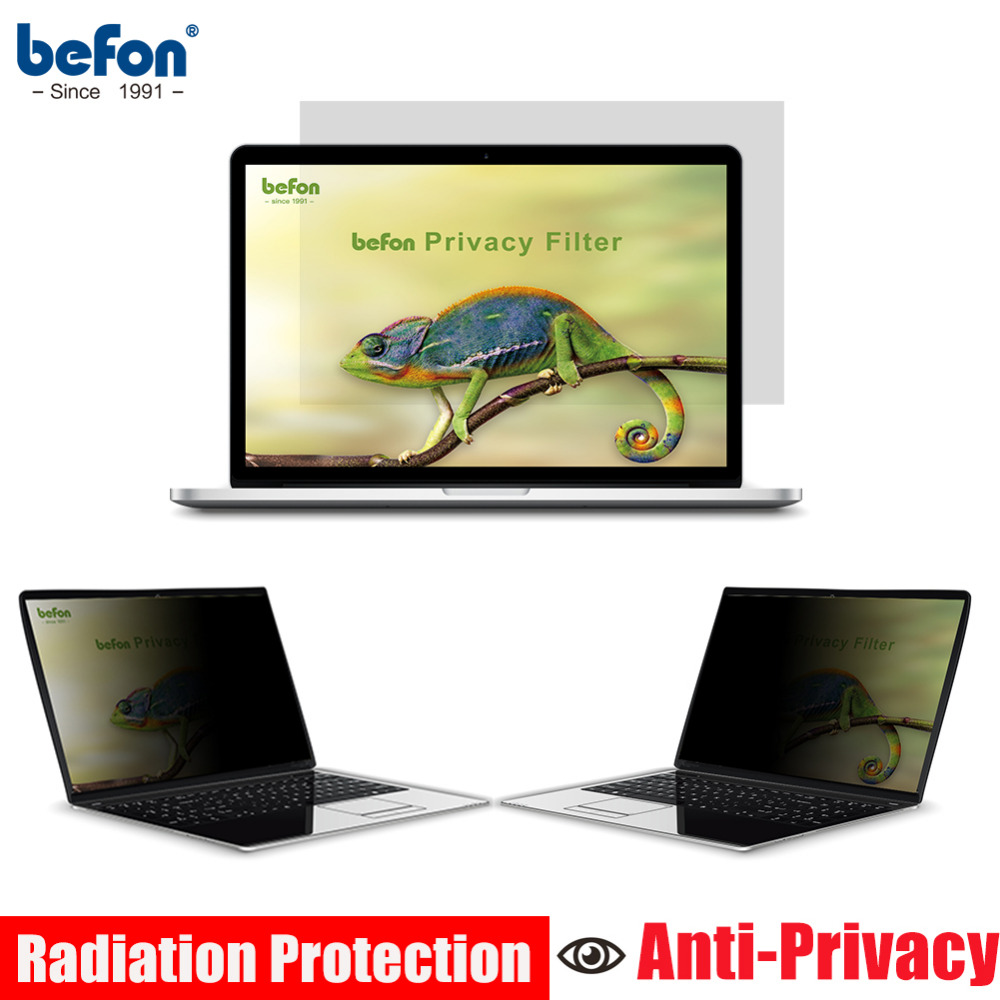 Befon 14 Inch Privacy Filter Screen Protective Film For Widescreen 16:9 Laptop Notebook Screen Protector 310mm * 174mm