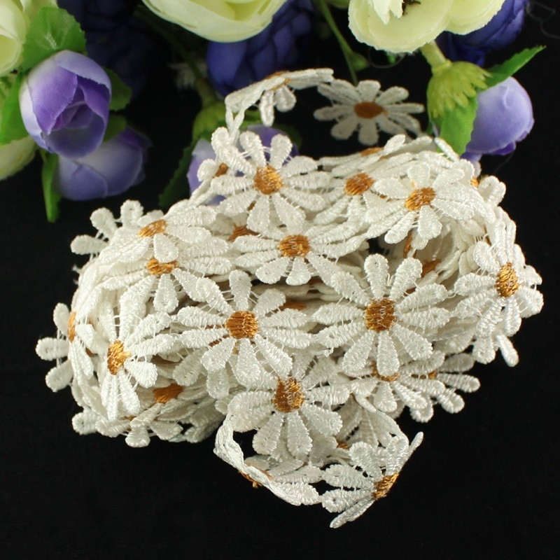 Smiry high quality yards pack ivory daisy flower
