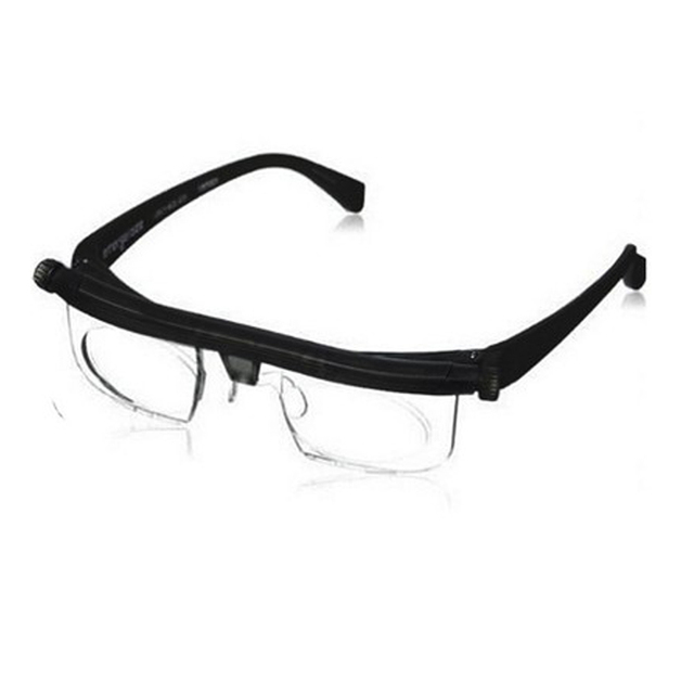 Women Men Vision Focus Adjustable Reading Glasses Myopia Eye Glasses -6D to +3D Variable Lens Correction Binocular Magnifying