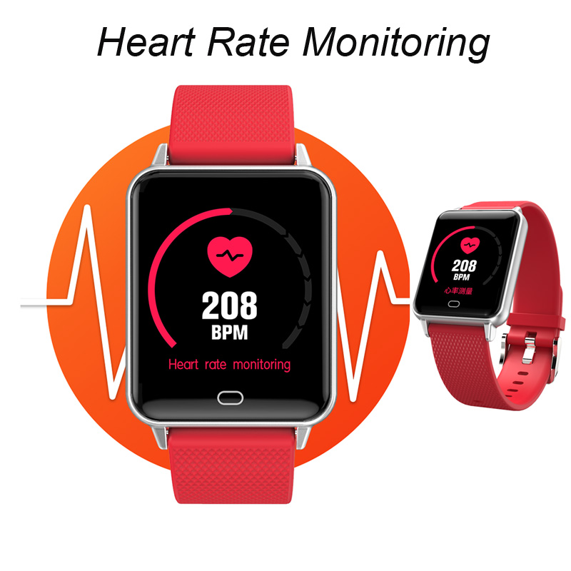 Image 2 - Умные спортивные часы M21 сердечного ритма браслет крови Давление фитнес контроль сна трекер Водонепроницаемый Android IOS Цвет экранная полоса-in Смарт-браслеты from Бытовая электроника