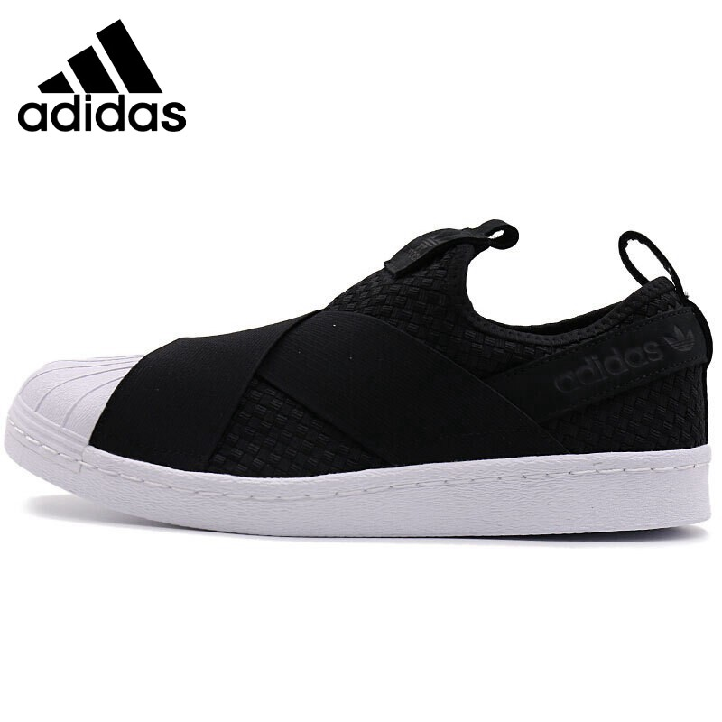 Original New Arrival 2018 Adidas Originals SUPERSTAR SLIPON Unisex Skateboarding