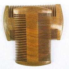 Pocket Wooden Comb Natural Green Sandalwood Super Narrow Tooth Wood Combs No Static Lice Pet Beard Comb Hair Styling Tool