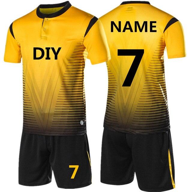d3d5b71c7f837 2018 nuevo conjunto De camiseta De fútbol con personalidad para adultos