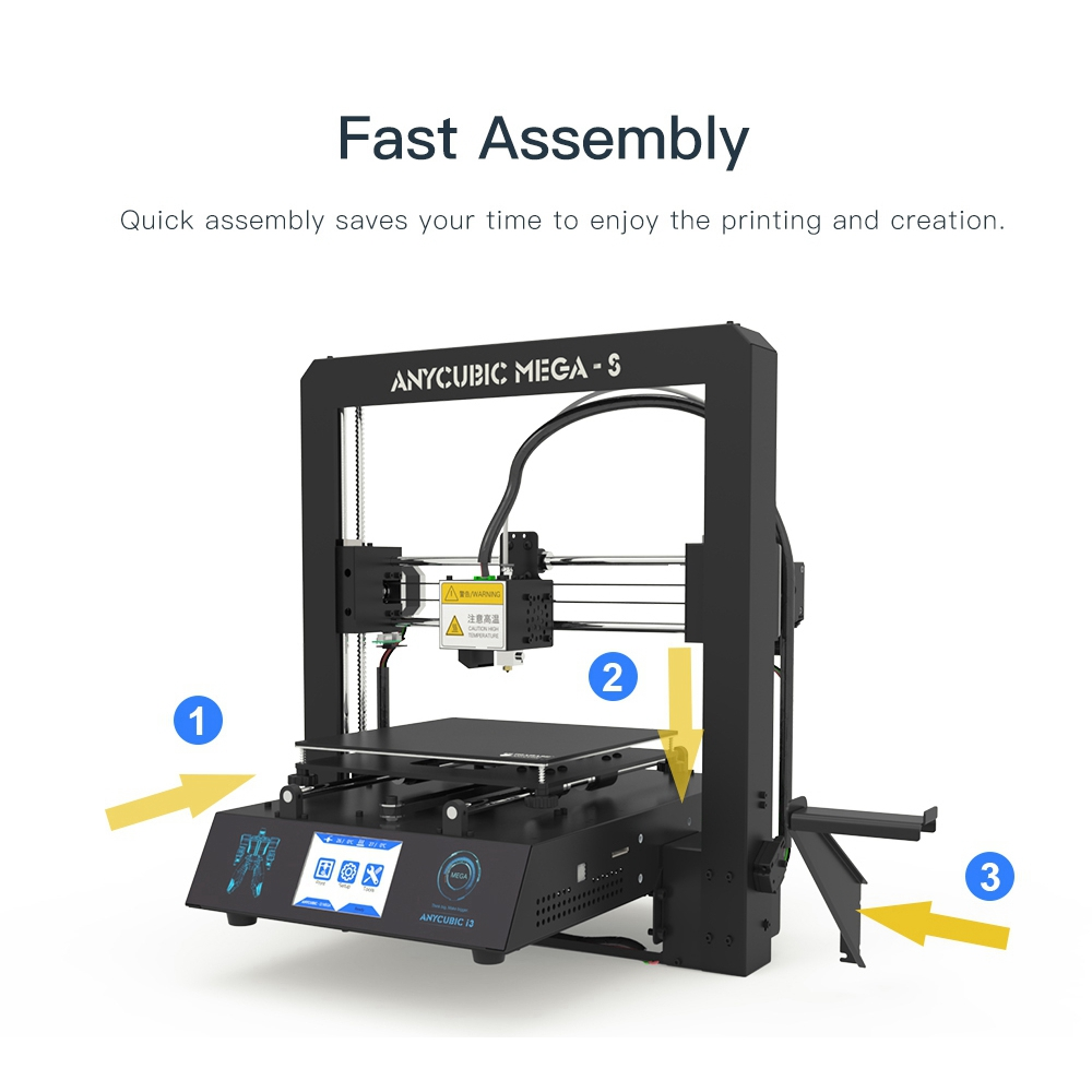 Image 5 - ANYCUBIC Mega S 3D Printer I3 Mega Upgrade Large Plus Size Full Metal TFT Touch Screen Printer 3d High Precision 3D Drucker-in 3D Printers from Computer & Office