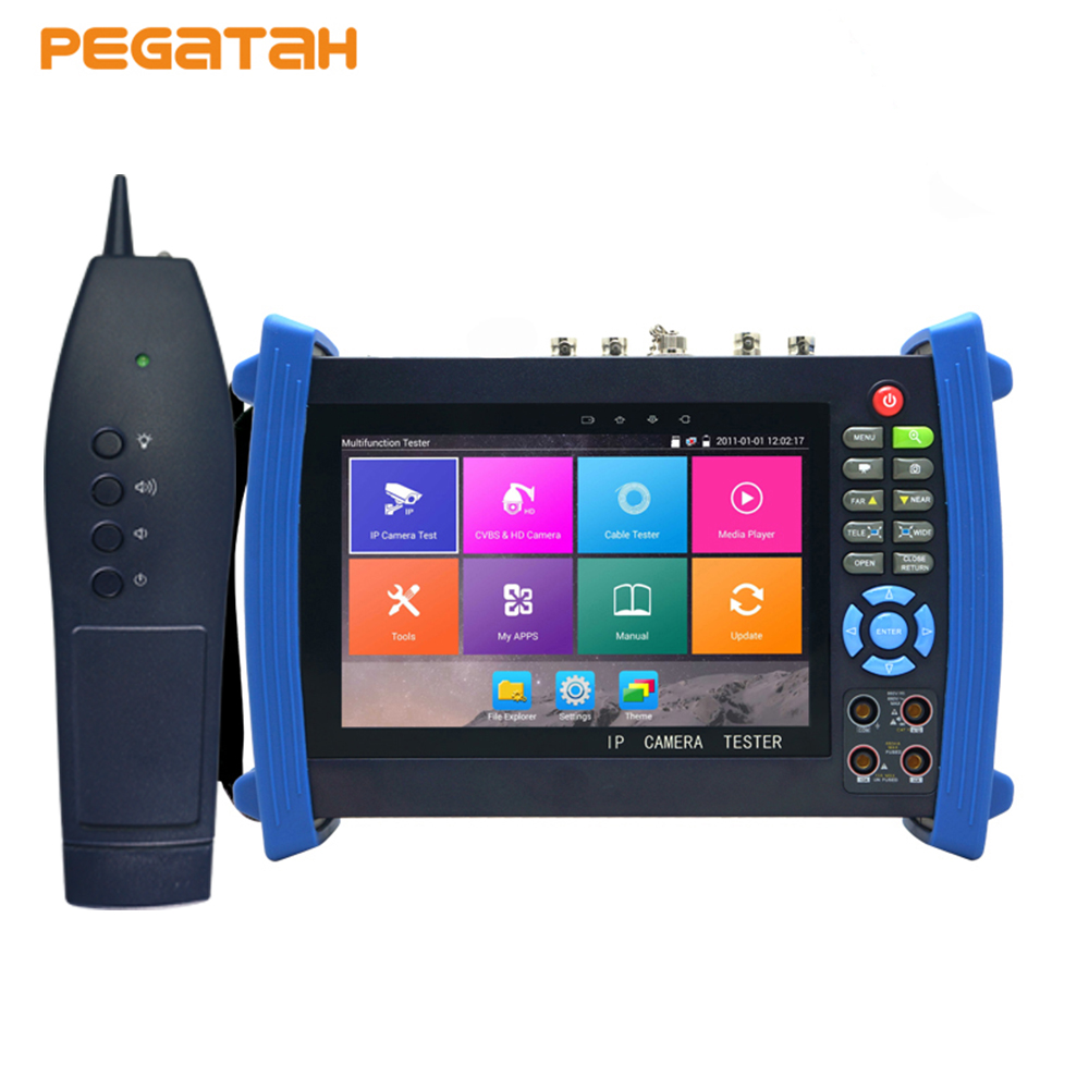 7 inch H.265 4K IP 8MP TVI CVI 5MP AHD Camera Tester IP monitor,security tester CCTV Camera tester with HDMI Cable tracer