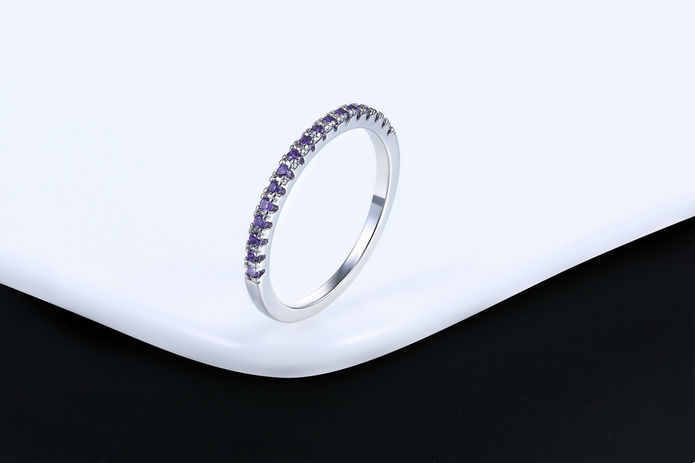 Wedding Ring For Women Man Concise Classical Multicolor Mini Cubic Zirconia Rose Gold Color Fashion Jewelry R132 R133 ZHOUYANG 10