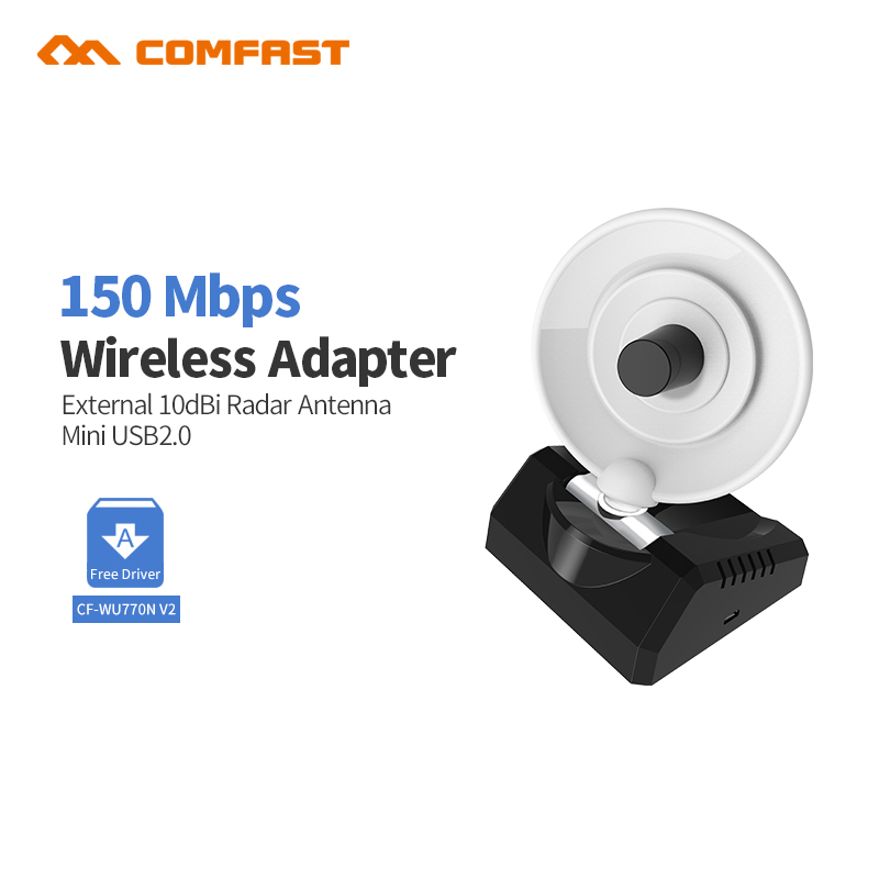 Comfast CF-WU770NV2 USB Drahtloser Signalempfänger / Sender Signal King 150Mbps USB Wireless Adapter 10dBi WiFi Adapter Antenne