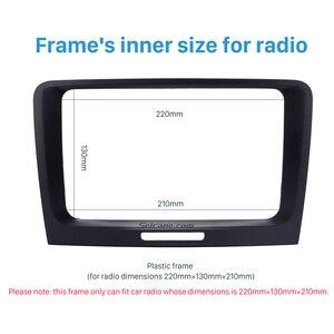 Image 4 - Seicane Black 220 *130 * 210mm 2 Din Car DVD Radio refitting Dash Panel Fascia Frame for 2009 2010 2011 2012 2014 Skoda Superb