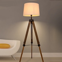 Simple Triangle Floor Lamp Nordic Personality Creative Woody American Solid Wood Floor Lamp