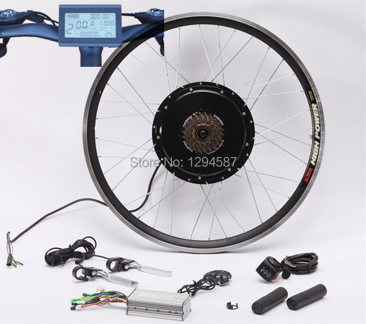 Free shipping New LCD system KM H brushless gearless hub motor rear