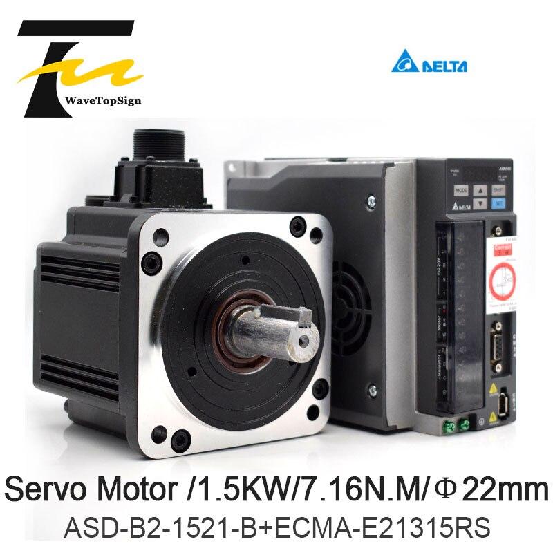 DELTA Servo Motor 1.5KW B2 Série ASD-B2-1521-B + ECMA-E21315RS + 3M Fio 7.16N.M 8.3A Uso Para A Indústria Automatizada