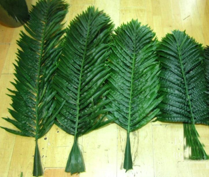 Искусственные листья кокосовой пальмы, украшение дома, цветок из искусственного шелка, искусственные растения - Цвет: 120CM