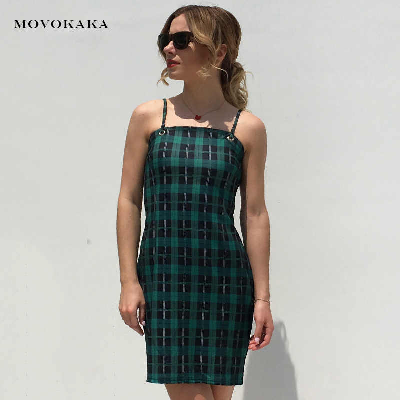 Новое летнее сексуальное платье, клетчатое повседневное платье, женское платье с бретелькой, облегающее платье, женские элегантные сексуальные мини-платья, большие размеры