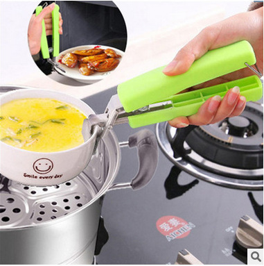 Multi-functional Heat-resistant Convenient Stainless Steel Bowl Clip Household Kitchen Tool Bowl Clip Anti-scalding Injury