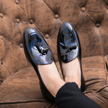 Dress Shoes Men 2019 Fashion Round Toe Loafers Patent Leather Oxford Shoes for Men Formal Mariage Wedding Shoes Big Size
