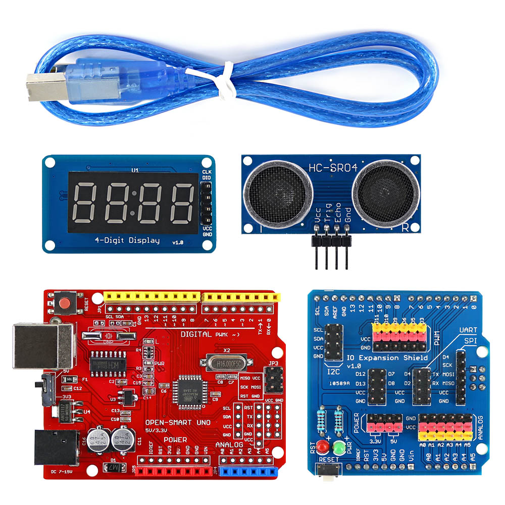 Image 4 - 4WD Wireless JoyStick Remote Control Rubber Wheel Gear Motor Smart Car Kit w/ Tutorial for Arduino UNO R3 Nano Mega2560-in Industrial Computer & Accessories from Computer & Office
