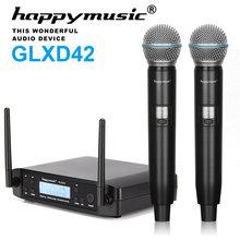 Новый высокое качество Professional двойной беспроводной микрофон системы сценические выступления два беспроводной микрофон