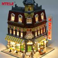 MTELE Brand LED Light Up Kit For Create Cafe Corner Lighting Set Compatible With Model 10182 (Not Include The Model)