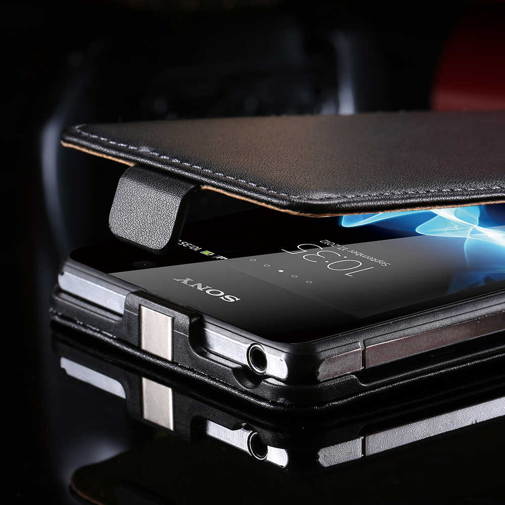 Вертикальный Флип Чехол Для Sony Xperia Z2 Из Натуральной Кожи Роскошный Классический Люкс Магнитный Телефонный Защитный Футляр Для Z2 Аксессуары