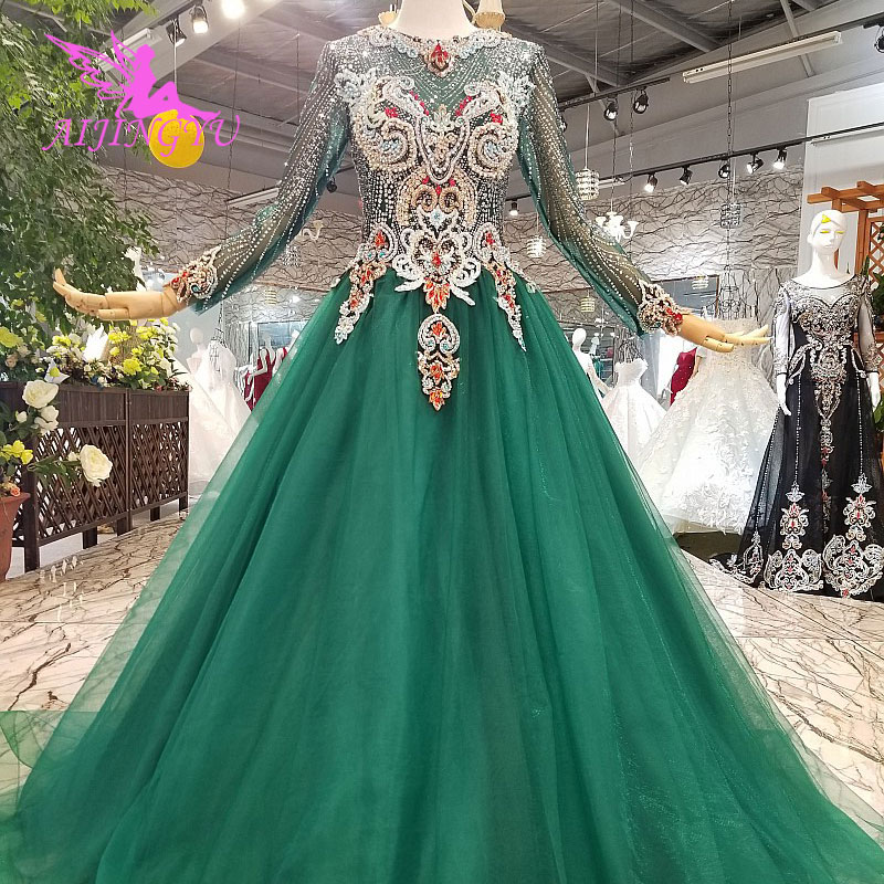 a8b8942af7 AIJINGYU Islamic Wedding Dresses Korean Luxury 2018 Real Plus Size Cord Lace  Bridal Gown Ideas Affordable Wedding Dress Stores ~ Best Deal July 2019