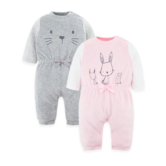 Cartoon baby clothes Long Sleeve Velvet  Cotton baby Rompers baby Girls baby Boys Clothes bebes infantil costumes