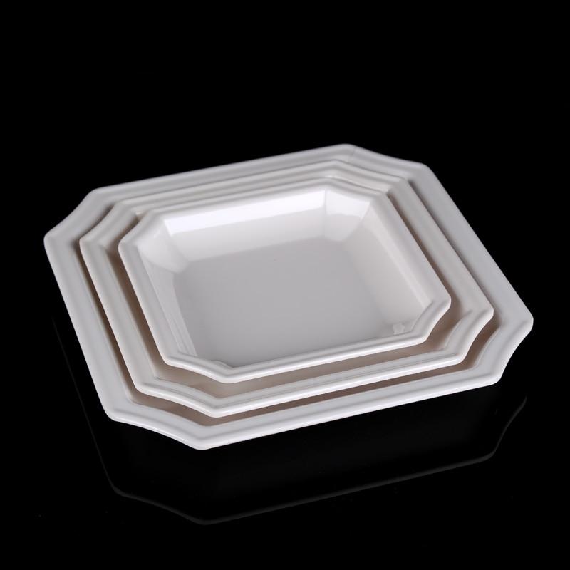 4PCS Pure White Plastic Square Fruit Bowl Plastic Square Dinner & Surprising White Plastic Fruit Bowl Photos - Best Image Engine ...