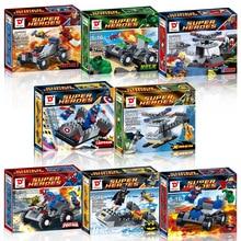 Super heroes Action Toy Figures Mini Blocks  Figures Superman 8 Piece/Set Figure Model Kids Gift  Building Blocks Sets Diy Brick