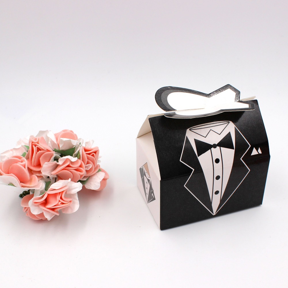 100pc/lot Elegant Candy Box For Wedding Sweet Bag Wedding Favors ...