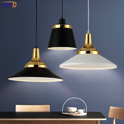 IWHD Led Pendant Lights Modern Iron Hanging Lamp Color HangLamp Light Fixtures Kitchen Suspension Luminaire Home Lighting iwhd iron led pendant lights modern fashion bedroom hanging lamp dining room suspension luminair home lighting fixtures lampara