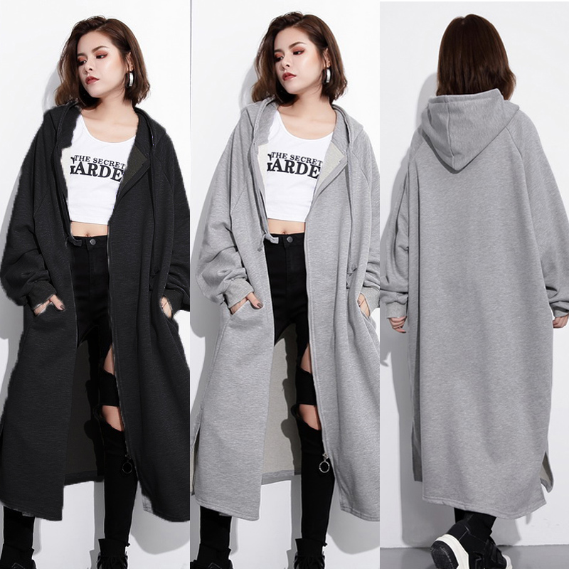 2019 ZANZEA Autumn Women Hoodies Long Sleeve Loose Sweatshirt Coat Casual Outwear Female Baggy Windbreaker Solid Jacket Vestido