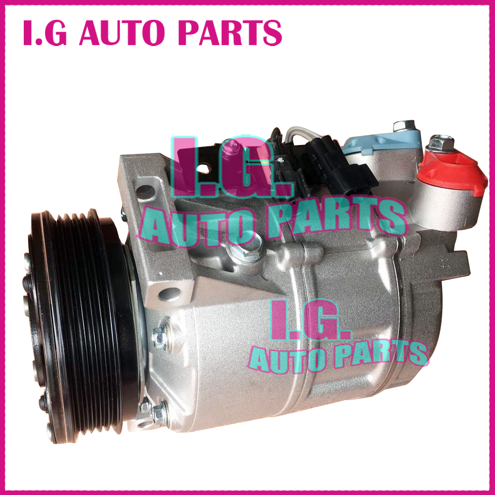 Auto AC Compressor For Volvo Pulley PV5 For Volvo XC70 V70 S80 2001-2008 <font><b>30780443</b></font> 31305833 36000331 36000456 36002425 image