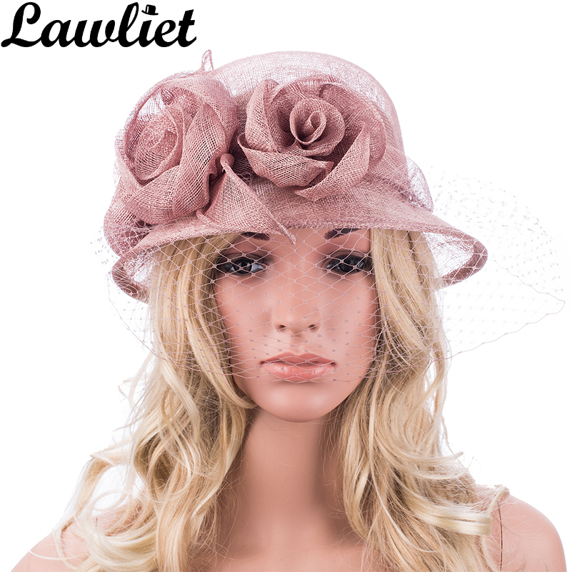 Lawliet New Womens Ladies Sinamay Hats for Kentucky Derby Wedding Ascot Church cloche Dress Hats kentucky