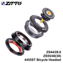 ZTTO 4455ST MTB Road Bike Headset 44mm 55mm CNC 1 1/8-1 1/2 1.5 28.6 Straight Tube Fork Internal Bicycle Parts цена