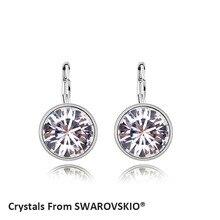 2016 heißer Verkauf Bella mini durchbohrte runde ohrringe Kristalle von SWAROVSKI gute für Weihnachtsgeschenk