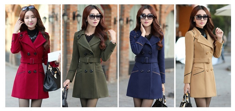 YAGENZ M-3XL Autumn Winter Wool Jacket Women Double Breasted Coats Elegant Overcoat Basic Coat Pockets Woolen Long Coat Top 200 2