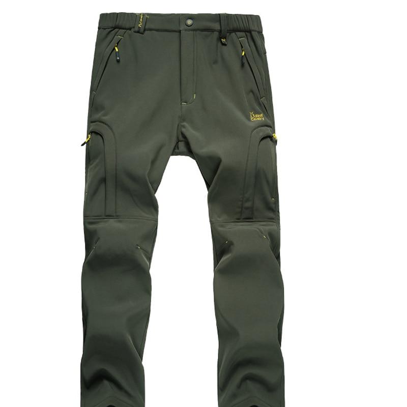 Prix pour Hommes Chaud Automne Hiver Softshell Randonnée Pantalon Coupe-Vent Imperméable Pantalon En Plein Air Sport Camping Trekking De Pêche Pantalon RM044