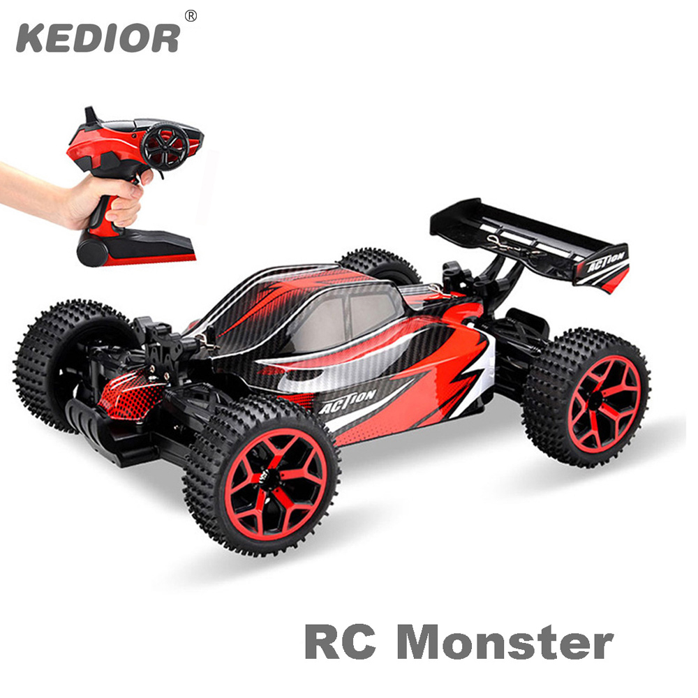 RC Cars Rock Off Road Vehicle 2.4Ghz 4WD High Speed 1:18