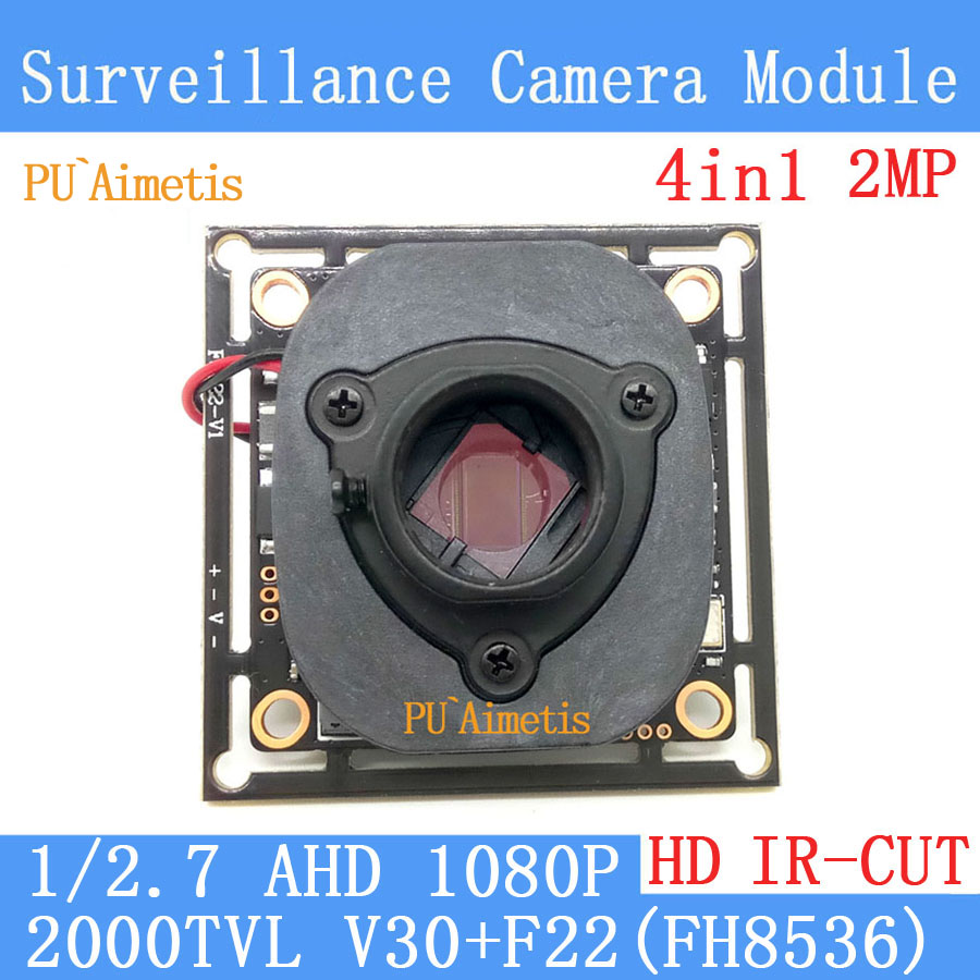 PU`Aimetis 4in1 2MP 1920*1080 AHD 1080P Surveillance camera Module,1/2.7 2000TVL V30+F22(FH8536E)+HD IR-CUT dual-filter switch pu aimetis 4in1 1000tvl ahd cctv camera module 3mp 3 6mm lens pal or ntsc optional surveillance camera ir cut dual filter switch