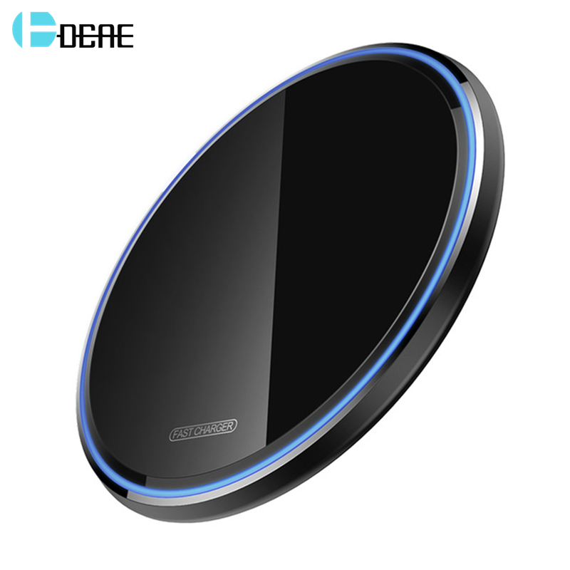 DCAE Quick 15W Qi Wireless Charger For IPhone 11 X XR XS 8 Samsung S10 S9 Huawei P30 Pro Xiaomi Mi 9 10W USB C Fast Charging Pad