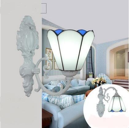 ФОТО Tiffany lamps wall lights Mediterranean minimalist style mirror lamp bedside dining room bedroom study single Wall Lamps