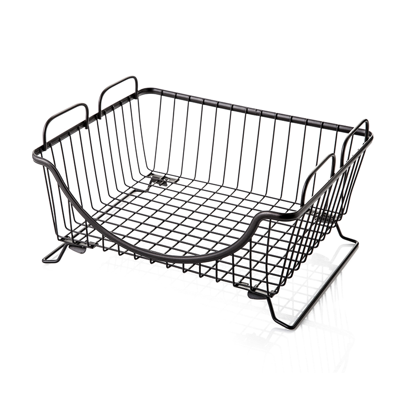 1PCS Metal Storage Basket Kitchen Supplies Floor Storage Basket Placed Dish Vegetable Drain Bowl Shelf Organization