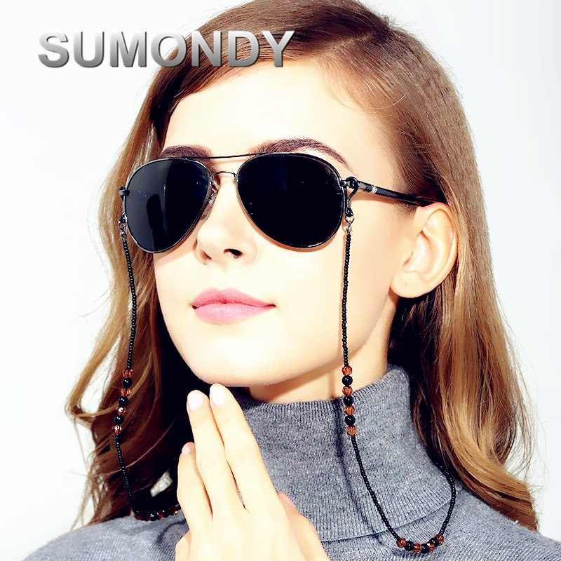 Fashion Design Women Fancy Eyewear Strap Cord Holder Neck Elegant Glasses Rope Lanyard Sunglasses Spectacle Beads Chain G130