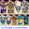 Soft TPU Hard PC Mobile Phone Cases For ZTE Blade G Lux Kis 3 Max V830 X9 V5 Grand ZMax Z970 Z Max Covers Cat Tiger Lion Shell